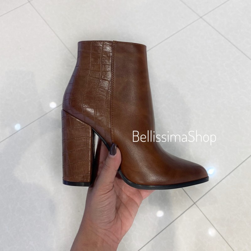 BOTTINES MINA MARRON