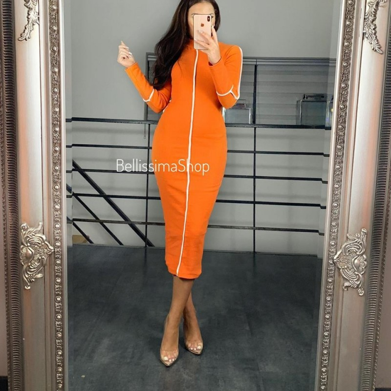 ROBE LISERÉ ORANGE