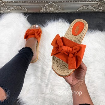 CLAQUETTES NOEUD ORANGE