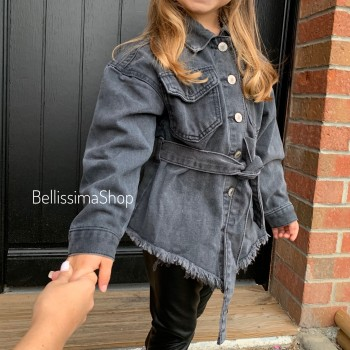 CHEMISE JEANS GRISE BABY