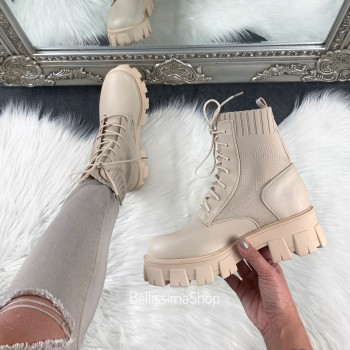 BOTTINES ANNA BEIGE