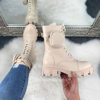 BOTTINES HAUTE TINA CREME