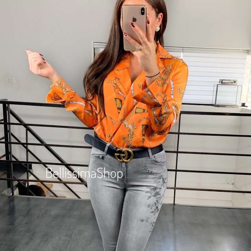BODY ORANGE MOTIF CHAINE