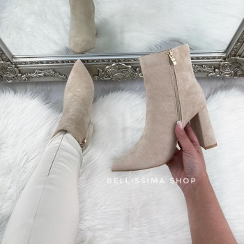 BOTTINES FANNY SUEDE BEIGE