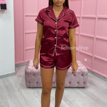 ENSEMBLE PYJAMA A RAYURES ROSE